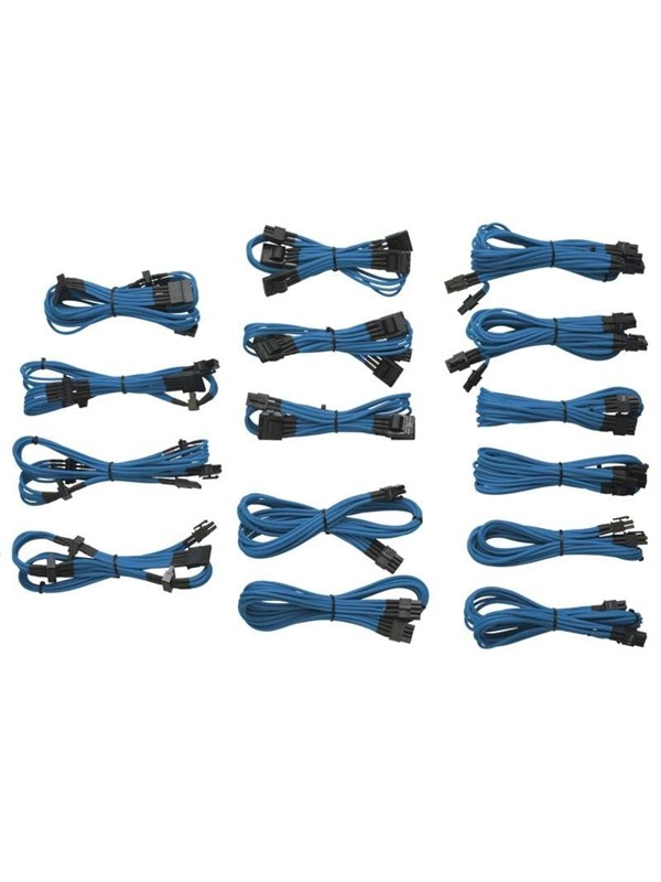 Image of   Corsair Sleeved Cable Kit - Blue