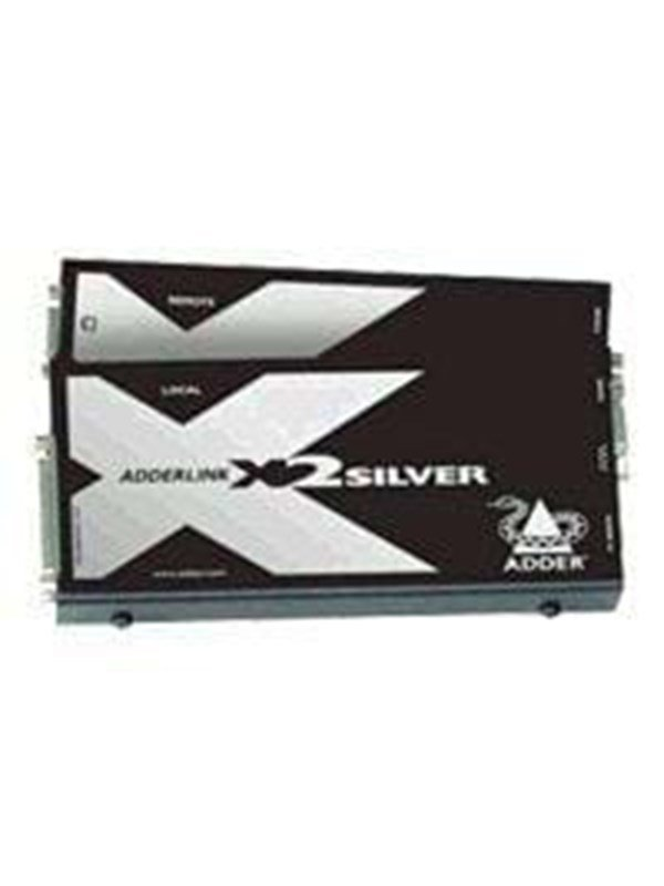 Image of   Adder Link X Series X2 Silver Transmitter and Receiver Pair