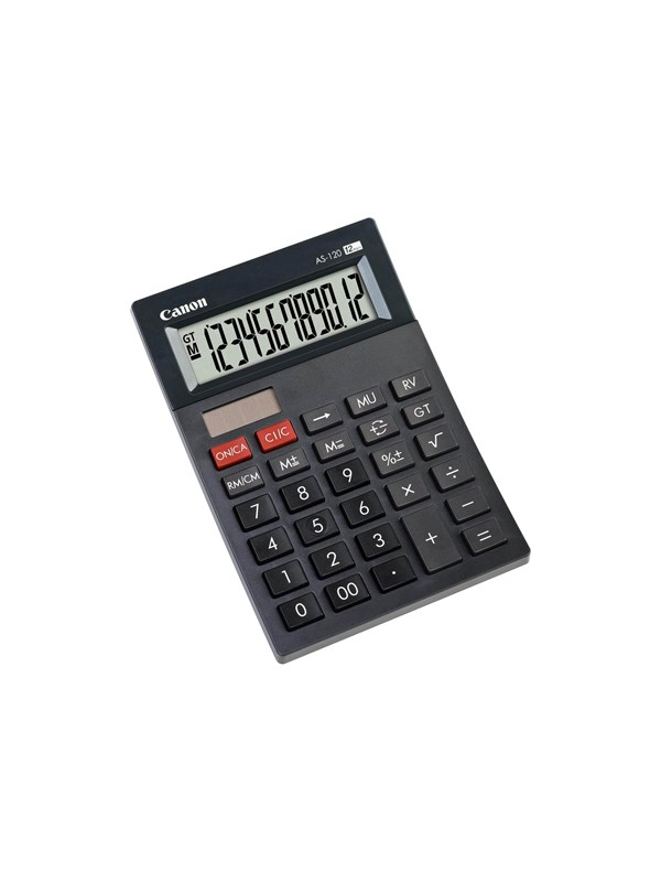 Image of   Canon AS-120 Solar Desktop Calculator
