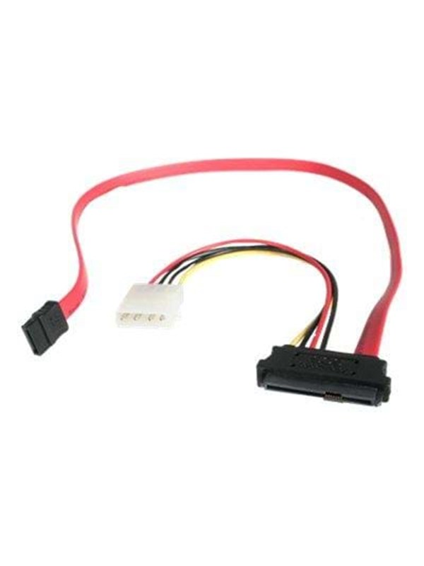 Image of   StarTech.com SAS 29 Pin to SATA Cable with LP4 Power