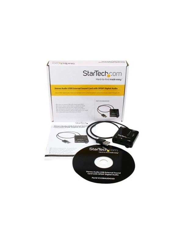 Image of   StarTech.com USB Stereo Audio Adapter External Sound Card