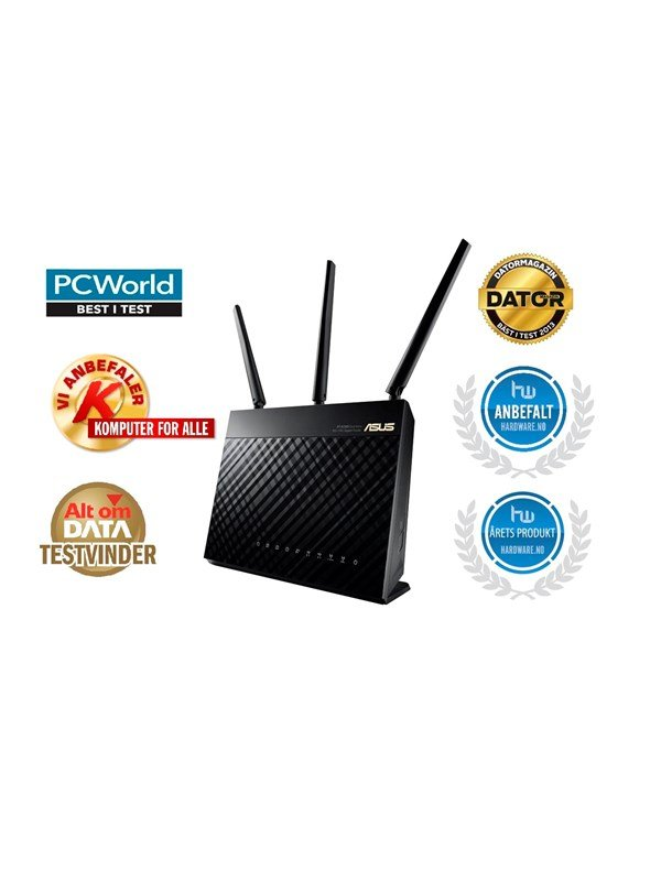 Image of   ASUS RT-AC68U Dual Band AC1900 - Mesh router AC Standard - 802.11ac