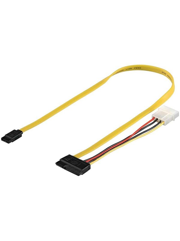 Image of   Pro SATA Cable & Power - 0.50m