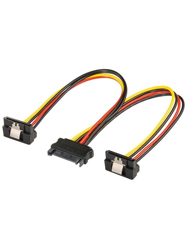 Image of   Pro SATA Power Cable x2 - 90° - 0.20m