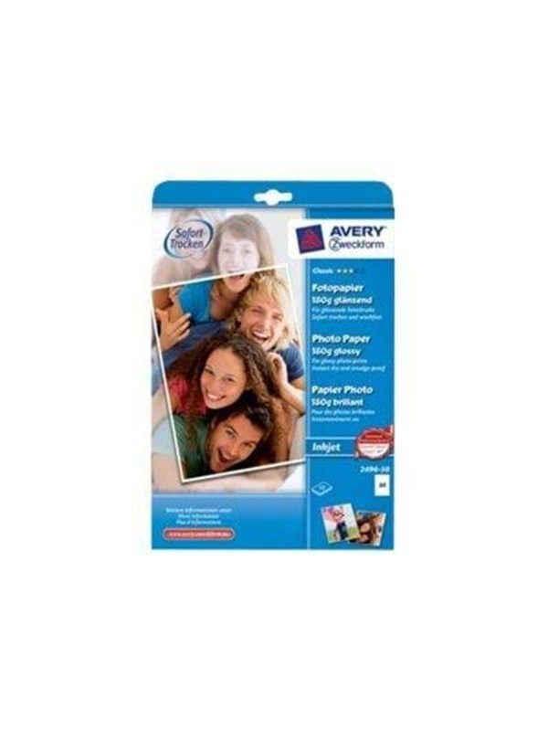 Image of   Avery Zweckform Classic Photo Paper Glossy 2496-50