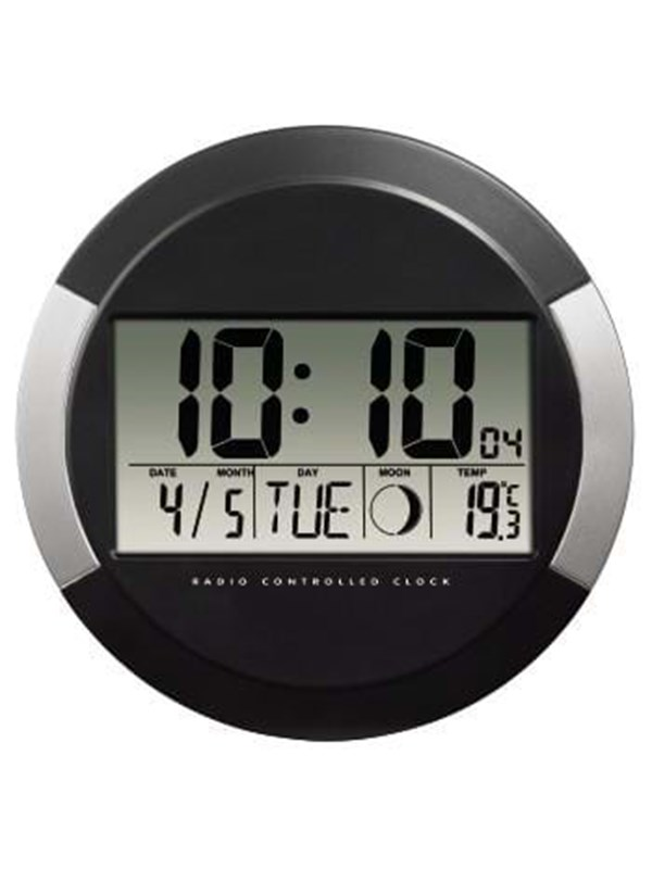"Image of   Hama Clock radio ""PP-245"" DCF Wall Clock - Sort"