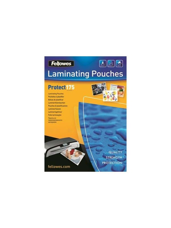 Image of   Fellowes Laminating Pouches Protect 175 Micron