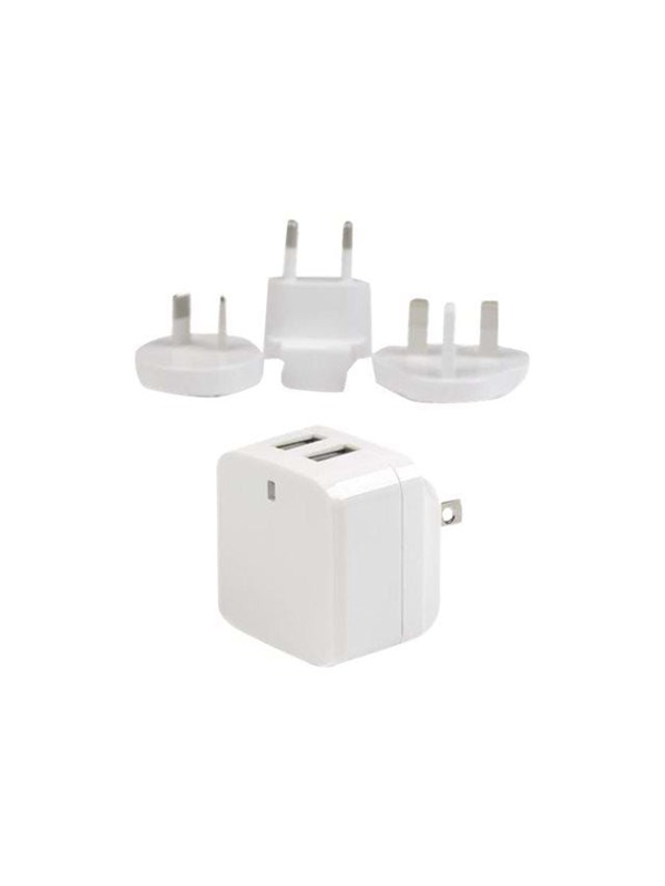 Image of   StarTech.com Dual Port USB Wall Charger 17W/3.4A