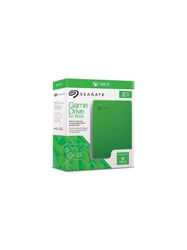 Seagate Game Drive for Xbox 360 & One - Ekstern Harddisk - 2 TB - Grøn