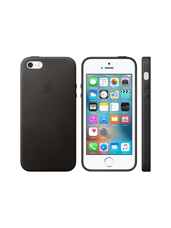 Image of   Apple iPhone 5/5S/SE Leather Case - Black