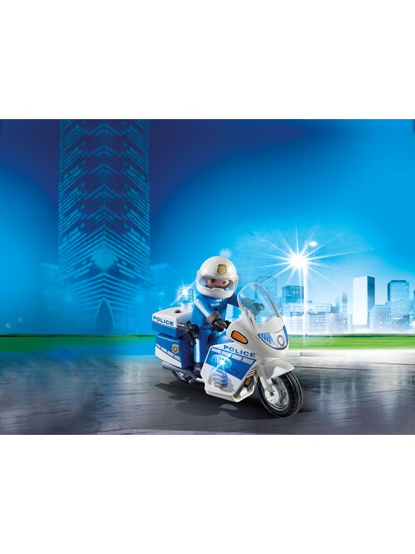 Playmobil City Action - Politimotorcykel med LED-lys