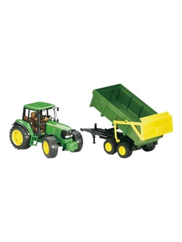 Image of   Bruder John Deere 6920 with tipping trailer