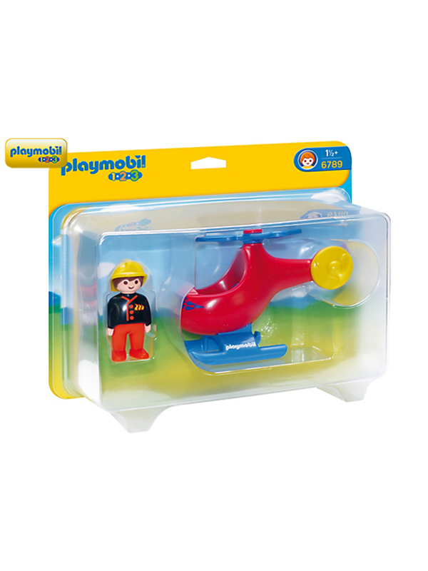 Image of   Playmobil 1.2.3 - Fire Rescue Helicopter - 6789