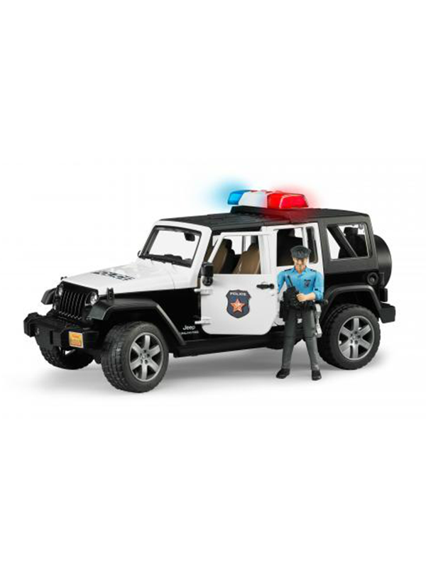 Image of   Bruder Jeep Wrangler Police Vehicle