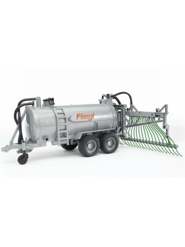 Image of   Bruder Fliegl barrel trailer with spread tubes