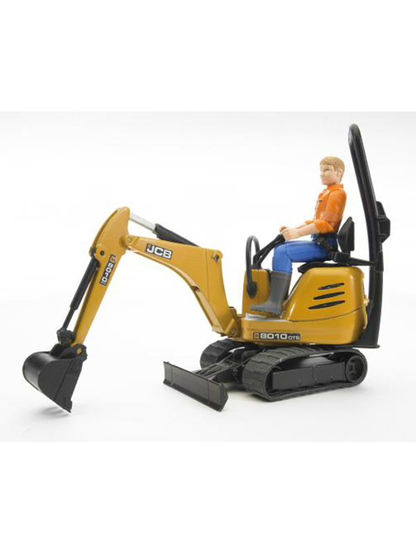 Image of   Bruder JCB Micro excavator 8010 CTS and construction worker