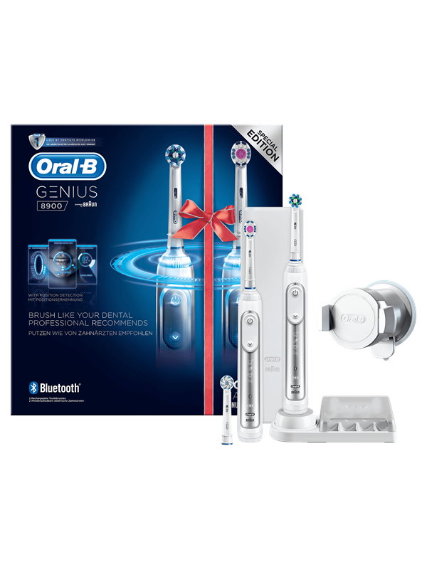 Image of   Oral-B Eltandbørste 2 Genius 8900 elektrisk tandbørster Powered by Braun