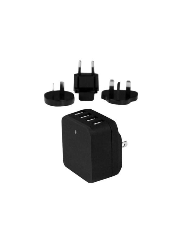 Image of   StarTech.com 4-Port USB Wall Charger - International Travel - 34W/6.8A
