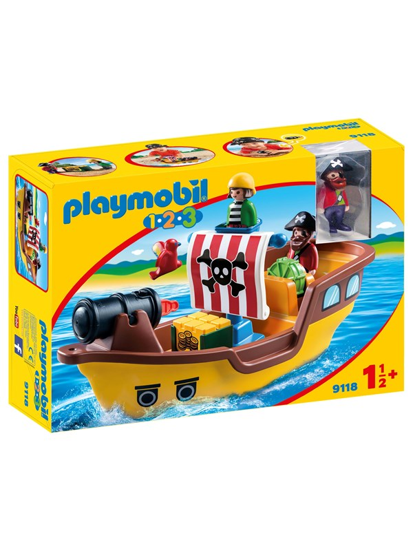 Image of   Playmobil 1.2.3 - 1.2.3 Piratskib