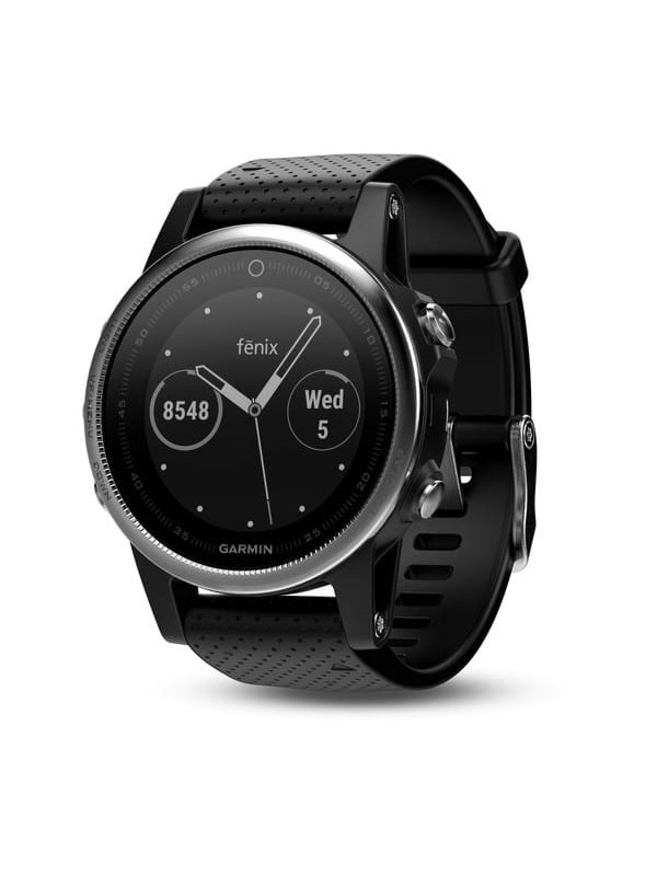 Image of   Garmin Fenix 5S - Silver with black band