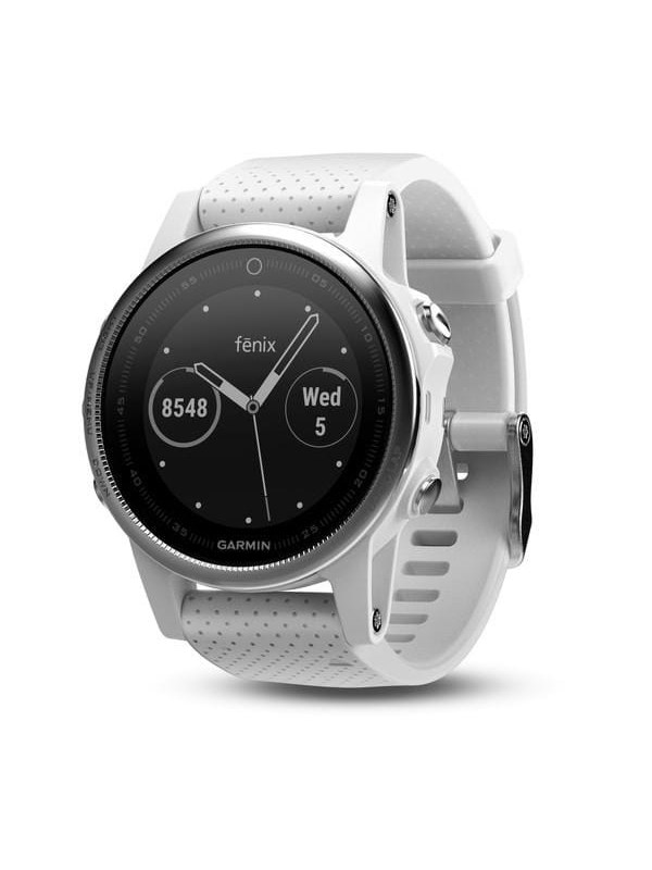 Image of   Garmin Fēnix 5S Silver - White Band