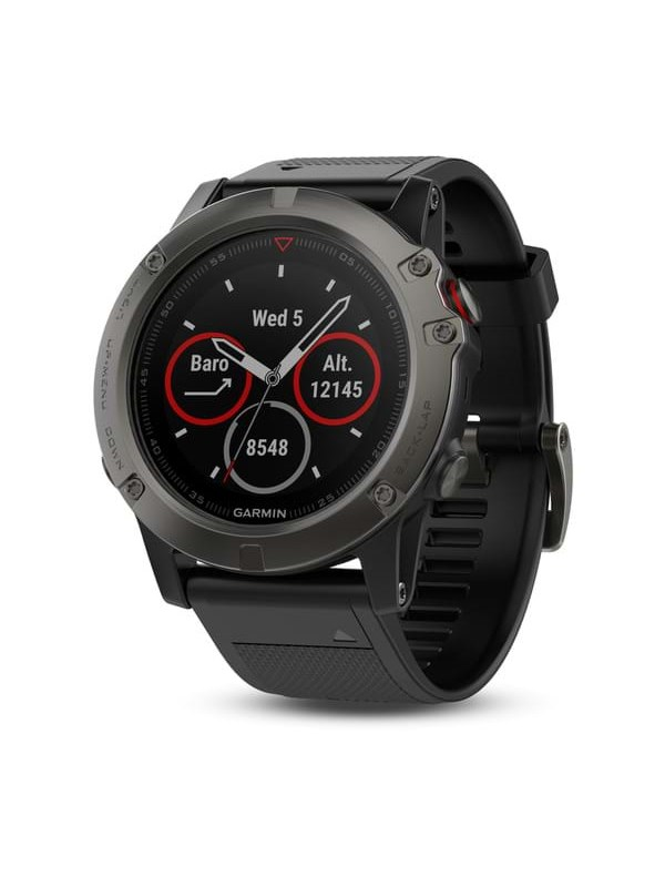 Image of   Garmin Fenix 5X Sapphire Slate Grey - Black Band