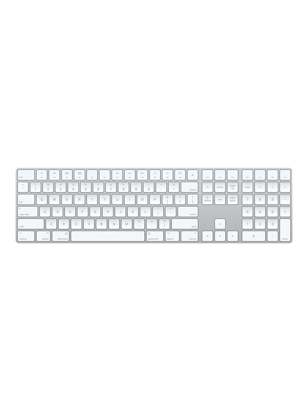 Image of   Apple Magic Keyboard with Numeric Keypad - Tastatur - Dansk - Sølv