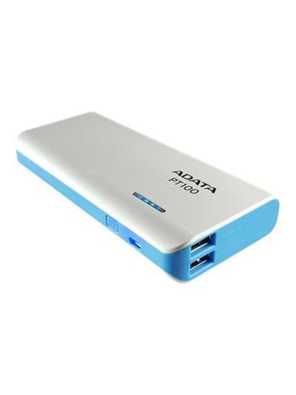 Image of   A-Data ADATA PT100 Powerbank - Hvid - 10000 mAh