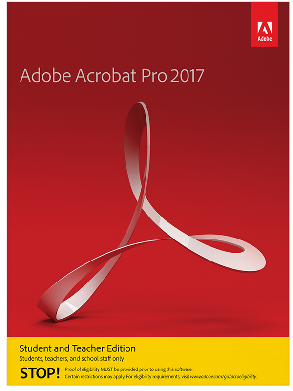 Image of   Adobe Acrobat Pro 2017 Student and Teacher Edition - Elektronisk