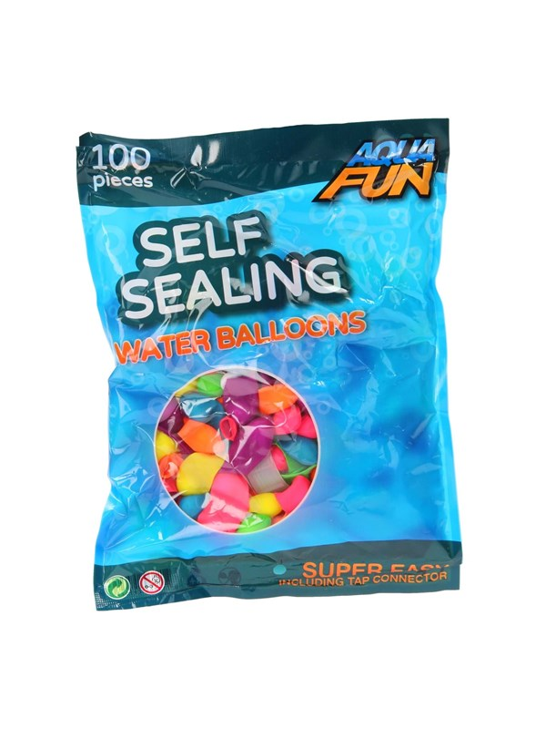 Image of   Aqua Fun Selfclosing Water Balloons - 100 pieces