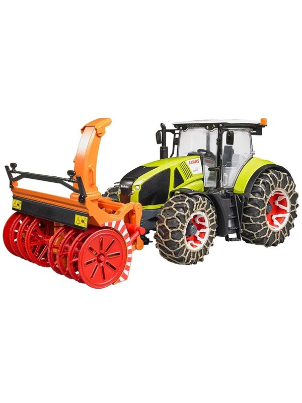 Image of   Bruder Claas Axion 950 with snow chains and snowblower