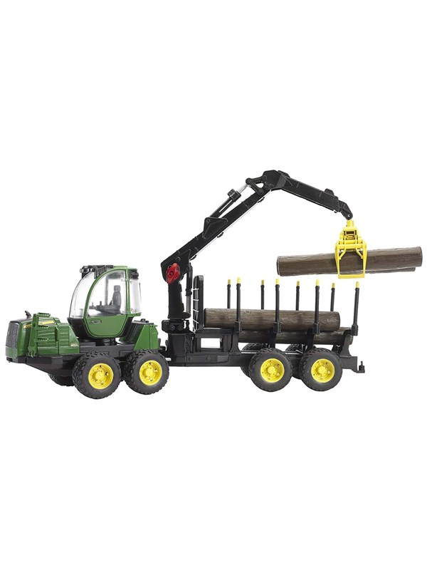 Image of   Bruder John Deere 1210E Forwarder with 4 trunks and grab
