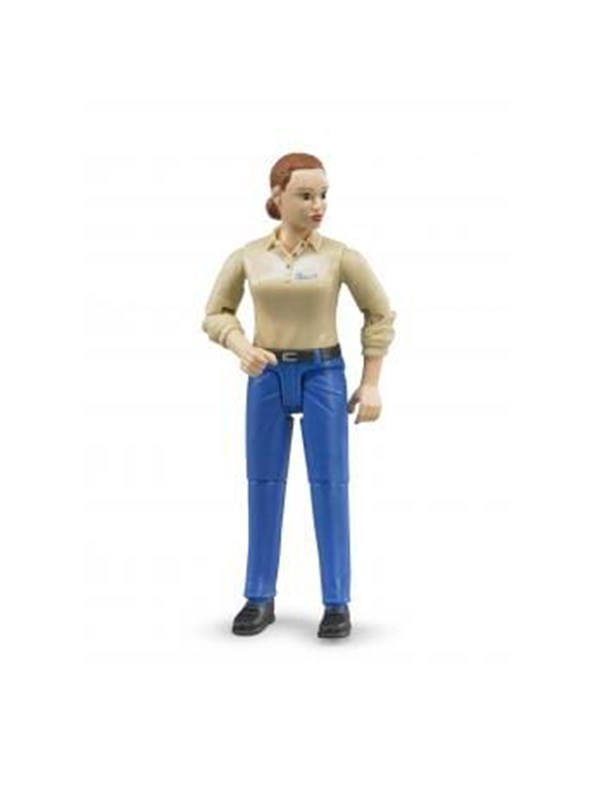 Image of   Bruder Woman, light skin, blue jeans