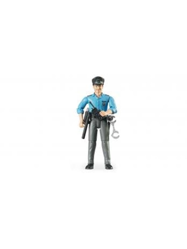Image of   Bruder Policeman, light skin, accessories