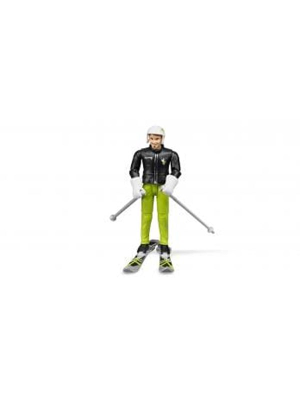 Image of   Bruder Skier with accessories