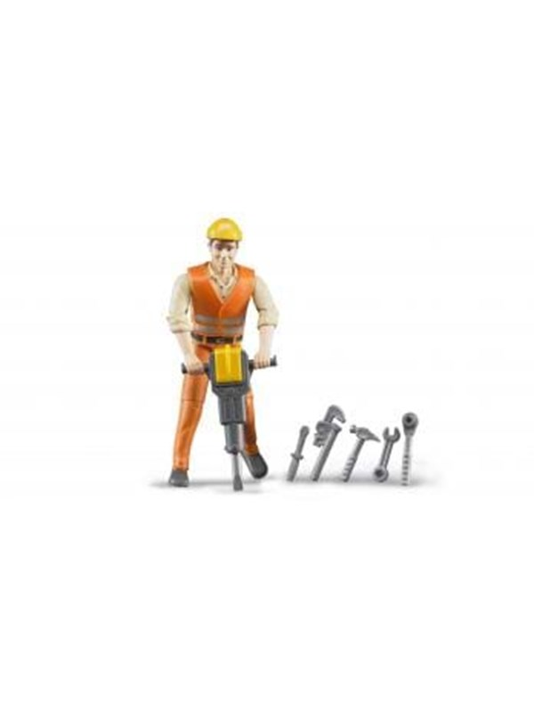 Image of   Bruder Construction worker with accessories