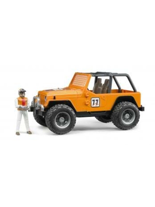 Image of   Bruder Jeep Cross country racer orange with driver