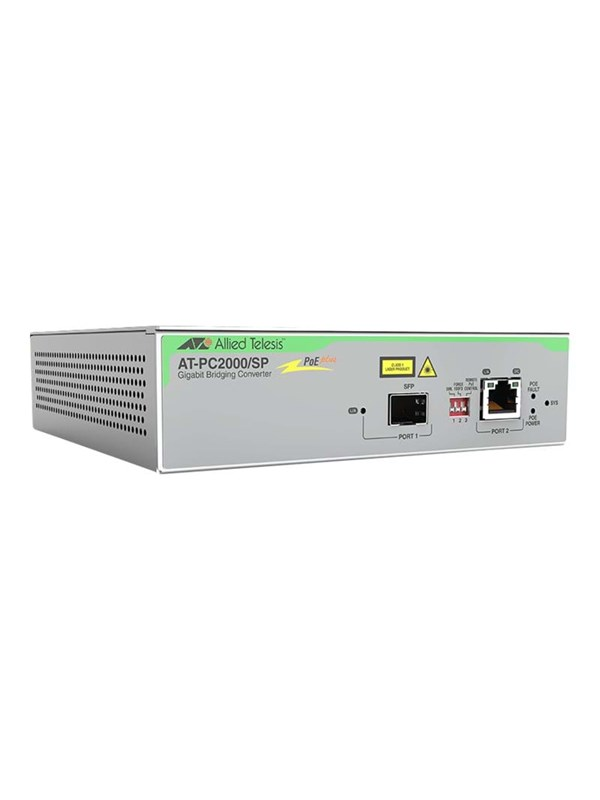 Image of   Allied Telesis AT-PC2000/SP - fibermedieomformer - Ethernet Fast Ethernet Gigabit Ethernet