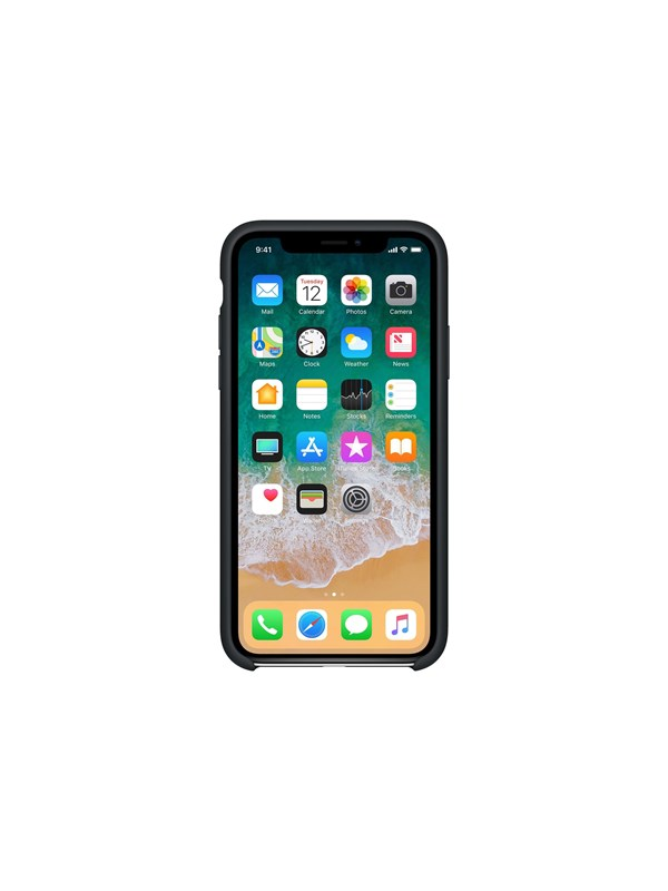 Image of   Apple iPhone X Silicone Case - Black