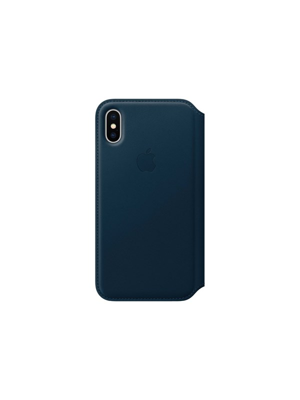 Image of   Apple iPhone X Leather Folio - Cosmos Blue