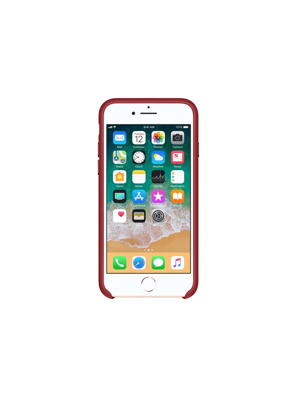 Image of   Apple iPhone 7/8 Leather Case - (PRODUCT)RED