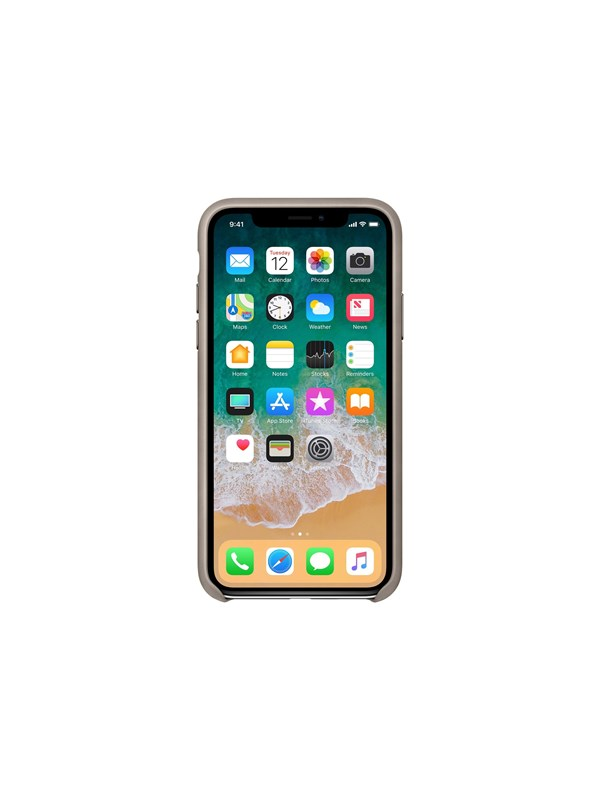 Image of   Apple iPhone X Leather Case - Taupe