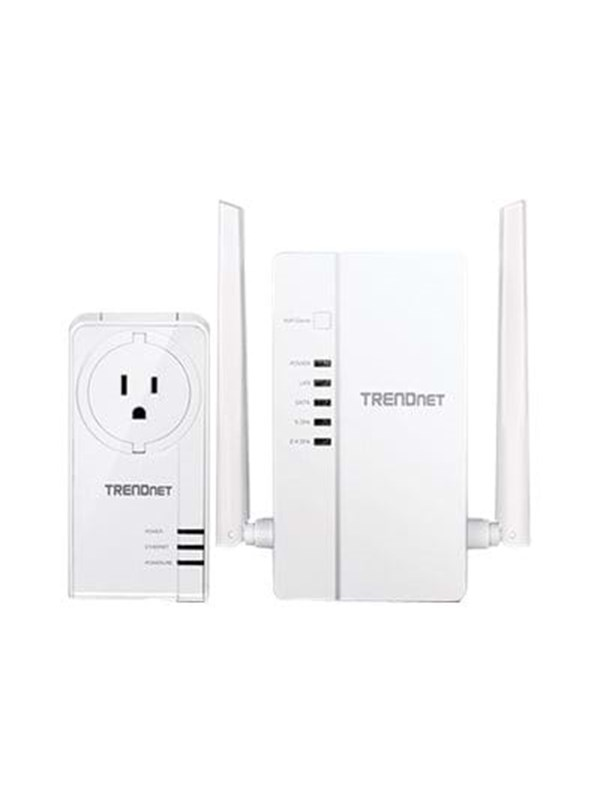 Image of   TRENDnet WiFi Everywhere Powerline 1200 AV2 Kit TPL-430APK Homeplug
