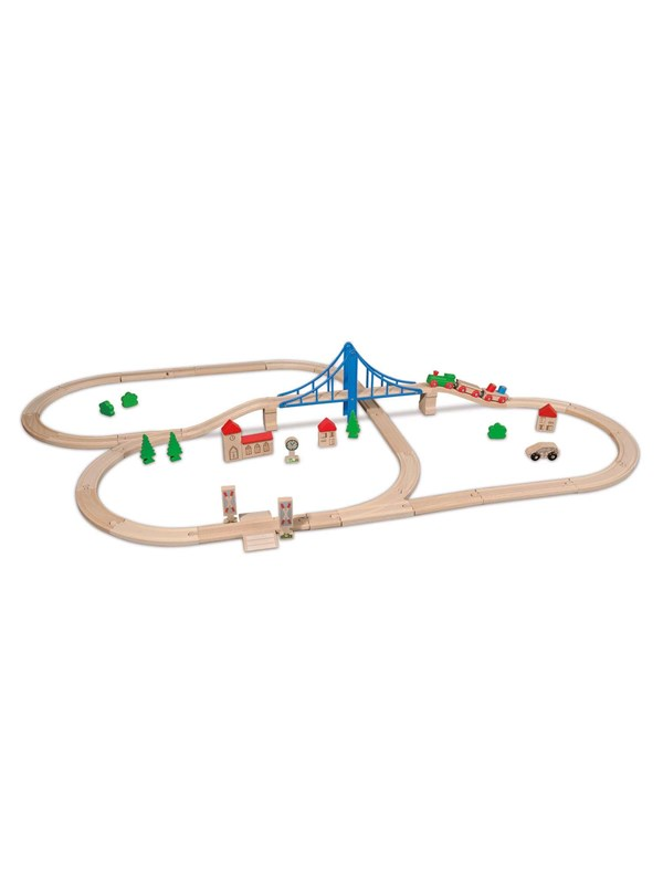 Image of   Eichhorn Train Set with Accessories 55 pcs
