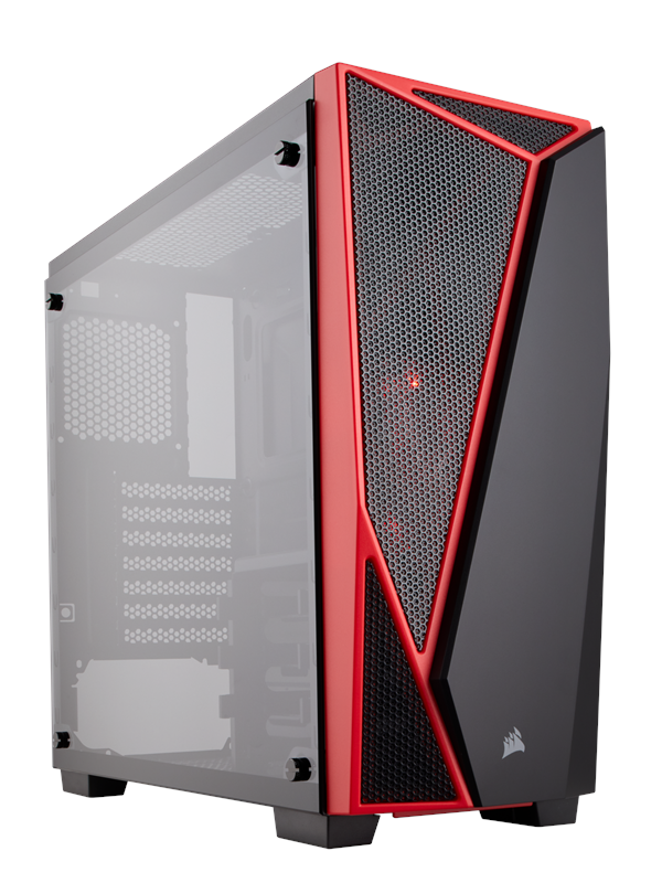 Image of   Corsair Carbide SPEC-04 Tempered Glass - Red - Kabinet - Miditower - Rød