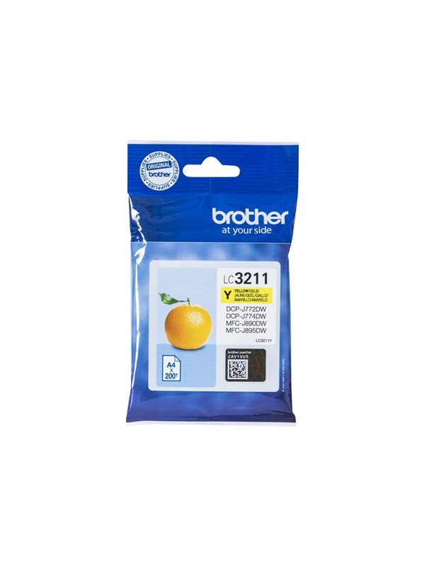 Brother LC3211Y / LC 3211Y Yellow Ink - Blækpatron Gul