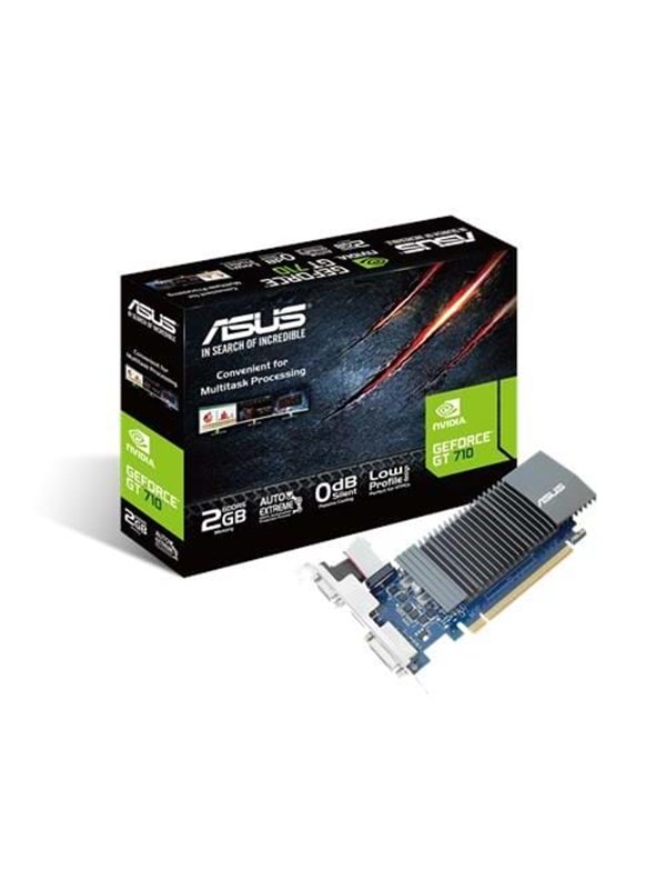 Image of   ASUS GeForce GT 710 Silent Low Profile - 2GB GDDR5 RAM - Grafikkort