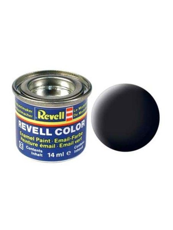 Image of   Revell enamel paint # 08-black Mat