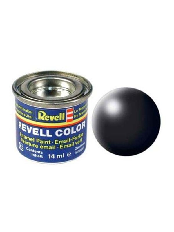 Image of   Revell enamel paint # 302-black silk Matt