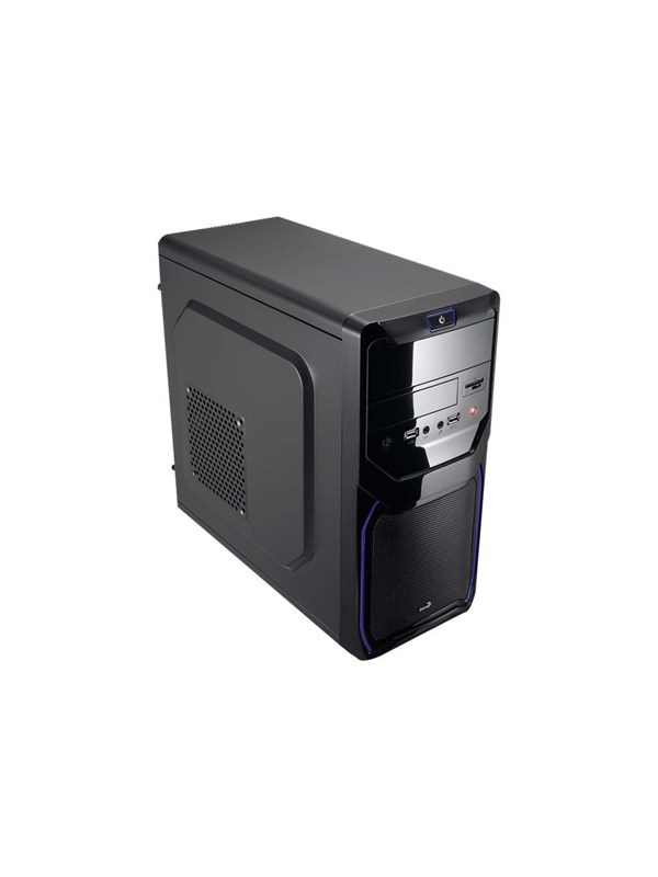 Image of   AeroCool QS-183 Advance Blue - Kabinet - Miditower - Sort
